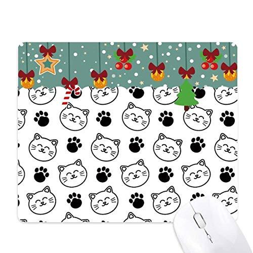 Paw Print glimlachende kat beschermen dier huisdier liefhebber muismat spel office mat kerst rubber pad
