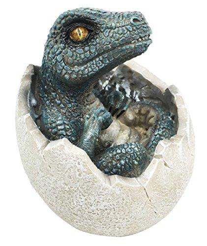 Ebros Gift Jurassic Era Raubtier-Velociraptor im Ei Dinosaurier Figur Dino Schlüpfendes Ei Knistern Baby Sammlerstück Skulptur prähistorischer Riesentiere Eis Zeit Land vor der Zeit Fossil Replik