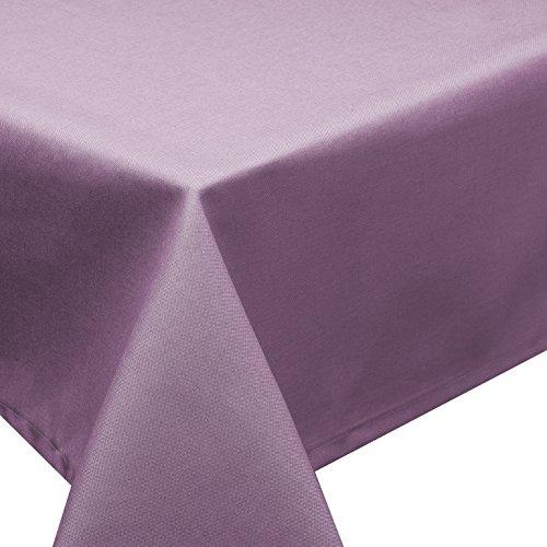 Tischdecke Fleckschutz Lotus Effekt Garten Leinenoptik abwaschbar in 27 Größen & 15 Farben in eckig, oval & r& Farbe: lila eckig 90x90 cm