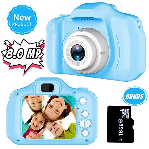 Spielzeuge zum 3-8 Jahre Alt Jungs Joy-Fun Digitalkamera zum Kinder 8.0 MP Kinder Kamera Video Aufzeichnung Elektronisch Spielzeug Geburtstag Geschenke Blau