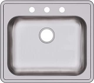 Elkay GE125223 Dayton Single Bowl Drop-in Stainless Steel Sink