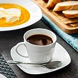MALACASA, Serie Elisa, Porzellan Tafelservice 30 TLG. Geschirrset mit je 6 Kaffeetassen, 6 Untertassen, 6 Dessertteller, 6 Suppenteller, 6 Essteller - 4