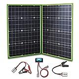 YUANFENGPOWER 100w Watt 12 V Faltbar Solarpanel Tragbare 2 x 50w 18 V Solar Ladegerät kit mit 10A Solarladeregler für Wohnmobil, Wohnwagen, Wandern,Boot,Auto,Outdoor 12 V Batterieladung (100)
