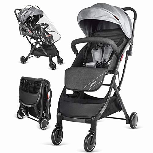 Silla de paseo de bebe Compacta y Ligera Cochecito para Viaje Plegable Carritos de Bebe 3 años Sillas de paseo