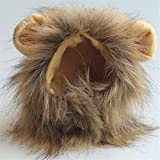 LIJSMZ Divertido Mascota pequeño Perro Traje de Gato león Melena...