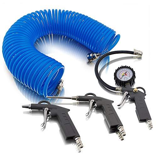 4 teiliges Set accessori per aria compressa per compressore aria pneumatici pressione pistola ad aria compressa
