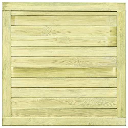 Tuinhek FSC geïmpregneerd grenenhout 100x100 cm Hardware hekken & barrières poorten