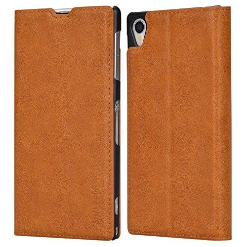 Mulbess Funda Sony Xperia Z1 [Libro Caso Cubierta] Slim de Billetera Cuero Carcasa para Sony Xperia Z1 Case, Marrón