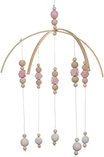 lulalula Carillon à vent pour bébé avec perles en bois pour décoration de chambre d'enfant pour garçons et filles Accessoi...