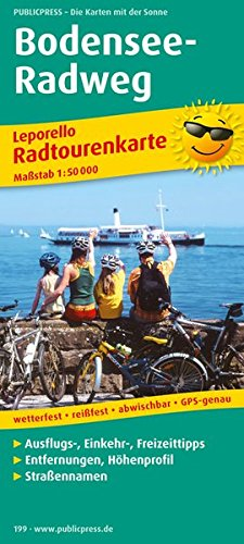 Bodensee-Radweg: Leporello Radtourenkarte mit Ausflugszielen, Einkehr- & Freizeittipps, wetterfest, reissfest, abwischbar, GPS-genau. 1:50000: ... (Leporello Radtourenkarte / LEP-RK)