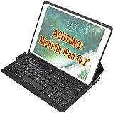 Inateck Ultraleichte Tastatur Hülle kompatibel mit iPad Air 3 2019 & iPad Pro 10.5 Zoll, QWERTZ, BK2005