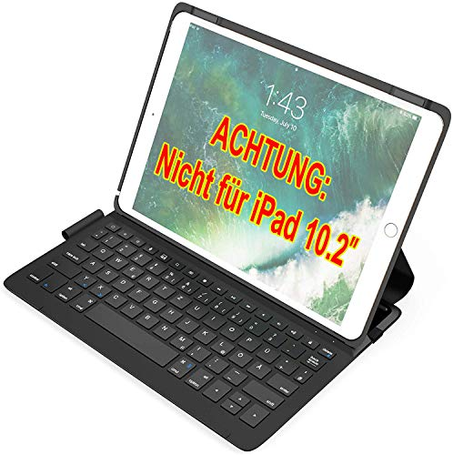 Inateck Ultraleichte Tastatur Hülle kompatibel mit iPad Air 3 2019 und iPad Pro 10.5 Zoll, QWERTZ, BK2005