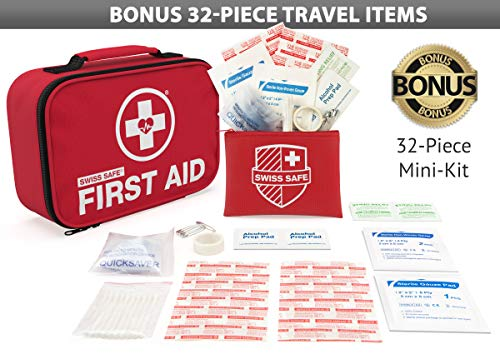 Swiss Safe 2-in-1 First Aid Kit,120 Pieces