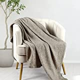Throw Bedding Wool Blanket,Super Soft Cozy Warm Wool Blanket,Lightweight Breathable Blanket for Couch,Bed, Sofa,Travel-All Season Suitable for Women,Men and Kids, Khaki 50x60Inch .