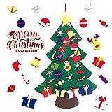 Aibrou Árboles de Navidad del Fieltro, 3.3ft Árbol de Navidad DIY Decoración, Colgantes de Pared de Navidad Adornos Extraíbles para Niños Año Nuevo Navidad Regalo