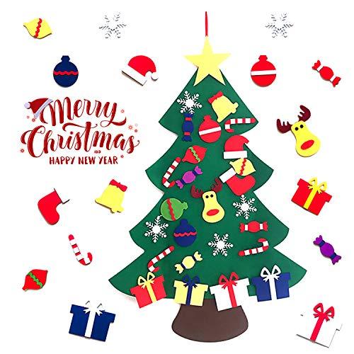 Aibrou Feltro Albero di Natale Regali di Natale per Bambini Decorazioni per la casa Staccabili da Appendere a Parete Fatte a Mano per Bambini A Taglia Unica