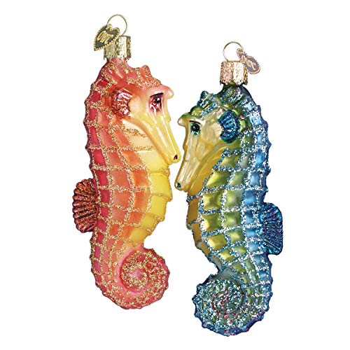 Old World Christmas Sea Horse Glass Blown Ornament by Old World Christmas