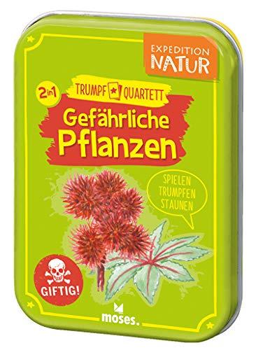 moses. 9598 Expedition Natur Trumpf Quartett Gefährliche Pflanzen   Kartenspiel für Kinder ab 8 Jahren, bunt