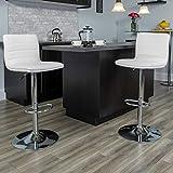 Flash Furniture White Vinyl Barstool, 1 Pack