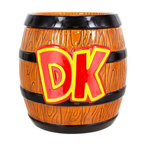 Paladone Products 5055964723941 Tarro de galletas Donkey Kong, Super Mario, Acero Inoxidable