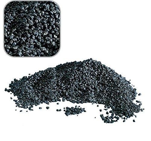 Amtra Deko 20 Kg schwarzen Quarzkies mittel 'Premium Qualität' 2-3 mm Bodengrund Aquarium Kies Sand