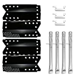 Uniflasy Grill Burners Tube Pipe, Heat Plate Shield Tent and Crossover Carry Over Tube Replacement Parts Kit for Stok SGP4330SB, SGP4331, SGP4130N, Stok Quattro 4 Burner Grills