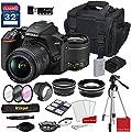 Nikon D3500 DSLR Camera with AF-P DX NIKKOR 18-55mm f/3.5-5.6G VR Lens + Nikon DSLR Camera Case + 32GB Memory Bundle (24pcs)