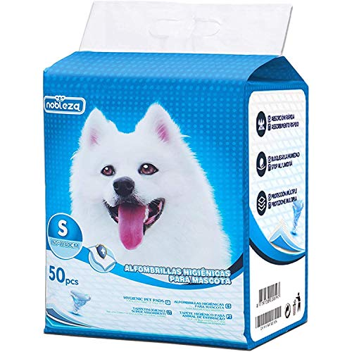 Nobleza - 50 pz Tappetini igienici per Cani, Misure 40 * 60cm, Tappetini assorbenti per Animali Domestici