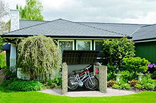 Keter Store-It Out Ultra Outdoor Plastic Garden Storage Bike Shed, Beige and Brown, 177 x 113 x 134 cm Garden Storage & Housing
