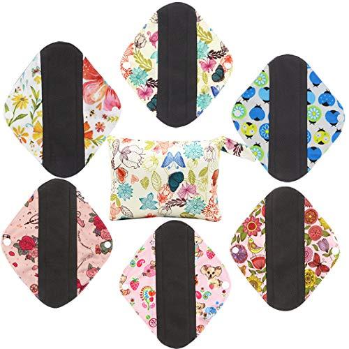 JUSTDOLIFE Menstrual Pad Herbruikbaar Wasbaar Bamboe Houtskool Sanitaire Pad Mama Doek Pad