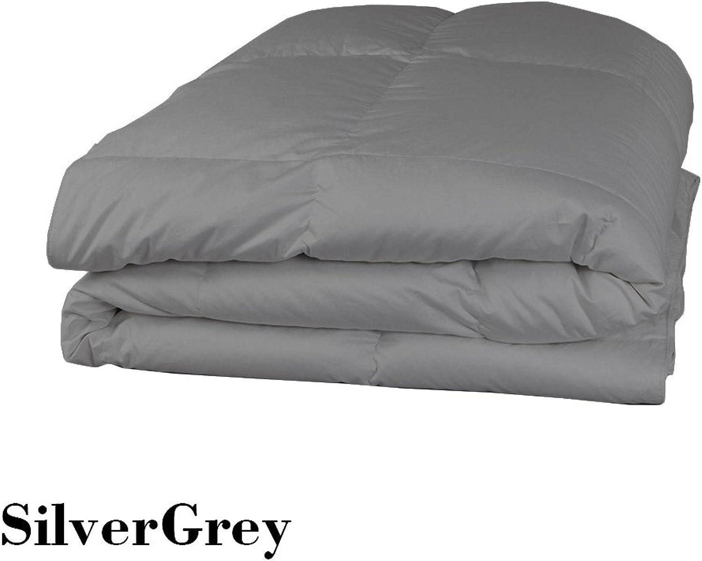 Super Doux Coton égypcravaten 350Fils 1pièce Doudou 200g m2 Euro King IKEA gris Argent Massif 100% Coton 350tc