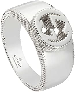Gucci Silver Ring Interlocking -6(US) YBC479228001012