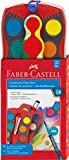 Faber-Castell Connector Paint Box Watercolor Set - 24 Watercolor Paints with Brush & Accessories