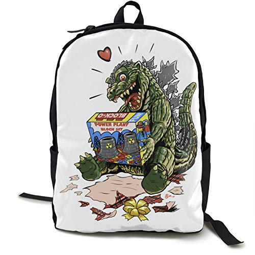 Best Kaiju Gift Ever 16.5 Inch Double Compartment Student Backpack School Bag Suitable For Boys And Girls School College Outdoor Travel
