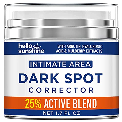 Intimate Area Dark Spot Corrector Cream, Dark Spot Corrector for Face, Body, Bikini and Sensitive Areas - Dark Spot Remоver with Arbutin, Hyaluronic Acid and Mulberry Extract - 1.7 OZ