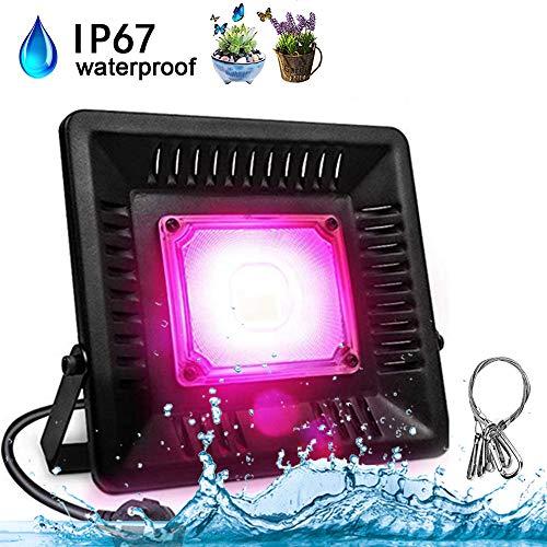 AUPERTO 50W LED Pflanzenlampe Vollspektrum - COB Pflanzenlicht IP67 Wasserdicht Wachsen Grow Lampe fur Pflanzen Wachstum im Gewächshaus Wachstumslampe