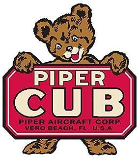 Piper Cub Florida pop Vinyl | 5 - Sizes Decal Patch Poster Banner | Piper Cub Florida Helmet Sticker