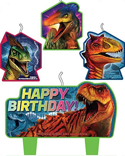 amscan Jurassic World Birthday Cake Candle Set, 4 Pc.