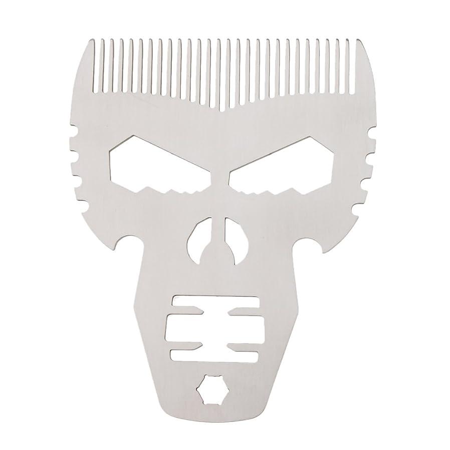 満たす生きる富男性シルバーのためのスタイリングスタイルファッションステンレススチールひげの櫛の口髭
