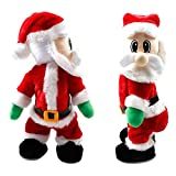 AISENO Christmas Ornaments Santa Claus Figure Twisted Hip Twerking Singing Electric Toys for Kids Xmas Decorations Wiggle Hip (Wiggle Hip)