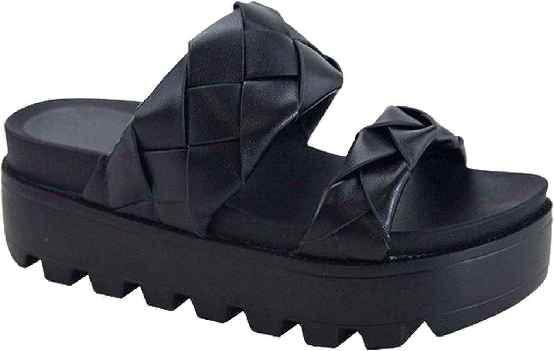 Women Open Toe Chunky Platform Slide Sandals