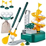 Wassteel Kids Golf Toys with 18Pcs Training Golf Balls, Outdoor Lawn Sport Toy, Indoor Toy Golf,...