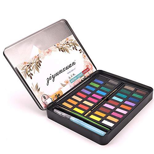 FairOnly 36 colores sólidos acuarela Artist Paint Set Pintura Pigmento Box Art Supplies