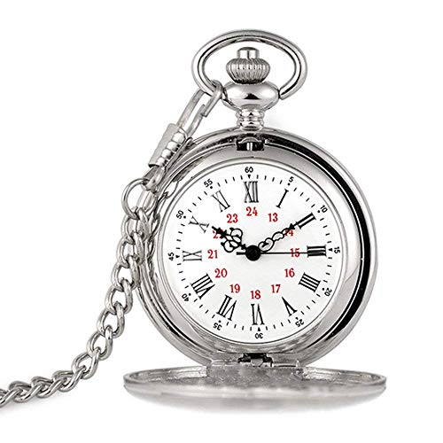 J-Love Accesorios de Cuello Blanco Reloj de Bolsillo Vintage