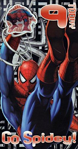 Marvel's The Amazing Spider-Man 9e verjaardagskaart van Gemma met Badge