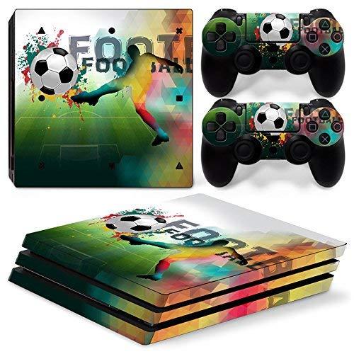 46 North Design Playstation 4 PS4 Pro Folie Skin Sticker Konsole FootBall aus Vinyl-Folie Aufkleber Und 2 x Controller folie