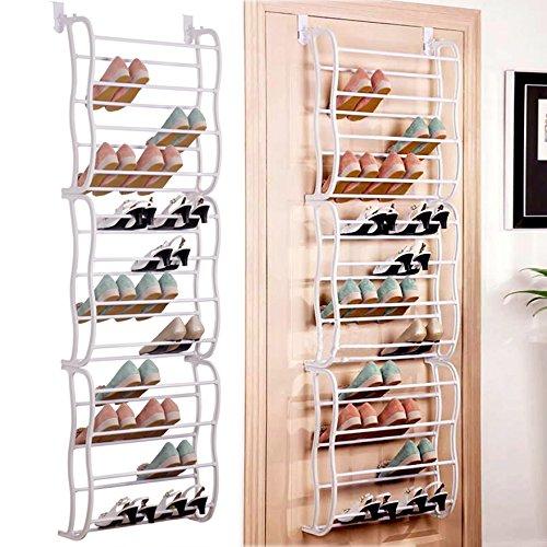Acecoree Aufhängen über die Tür Schuhregal Regal Organiser Haken Halterung Aufbewahrung Ständer...