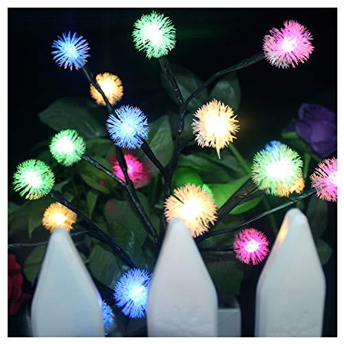 11.8x26In LED Solar Power Tree Light,IP44 Waterproof Landscape Path Lights,20Pcs LED Colorful Light,Outdoor Decorative Snowflake Light,Fairy String Lights,Garden Yard Lawn Lamp Decor (Multicolor)