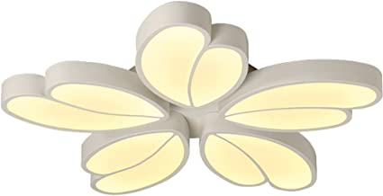 Ceiling Light Lamp Lighting Modern Minimalist Creative Personality Flower-Shaped Ceiling Lamp Bedroom Study Ceiling Lamp W...