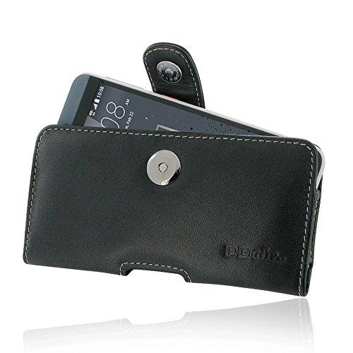 PDAir HTC Desire 530 630 Leder Tasche Hülle, Echtleder Handyhülle Tasche mit Gürtelclip Leder Handy Etui, Handarbeit Prämie Horizontal Tasche Für HTC Desire 530 630